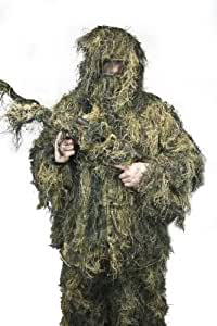 """New Ghillie Suit M/L or XL/XXL Camo Woodland Camouflage Forest Hunting 5-Piece (SV_WDLN_GS01 by """"SV TACTICAL"""") (XL/XXL)"""