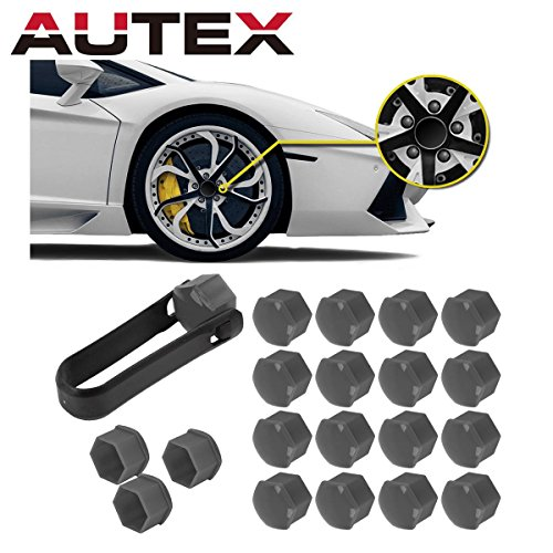 - AUTEX 20pcs Grey Wheel Lug Nut Center Cover Cap + Removal Tool for 2013-2015 Toyota Avalon 2012-2015 Camry 2011-2015 Corolla Sienna 2014-2015 Highlander 2012-2013 Matrix