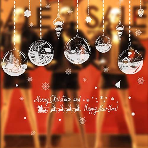 EbuyChX Merry Christmas Window Stickers PVC Wallpaper Household Room Poster Wa Multi-A 24 X 36 INCH - Poster Window Translucent