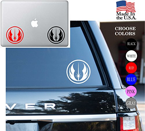 Star Wars Jedi Order Logo Jedi Knight May The Force Be With You Vinyl Decal Sticker - Car Window, Laptop Skin, Wall, Mac (23