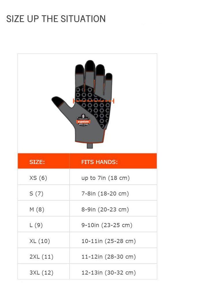 Ergodyne ProFlex 9012 Certified Anti-Vibration Work Glove with Wrist Support, Medium, Black by Ergodyne (Image #3)
