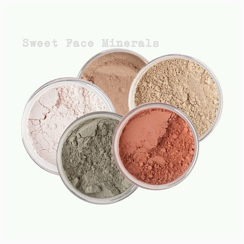 - Sweet Face Minerals 5 Pc Kit Mineral Makeup Set Bare Skin Sheer Powder Concealer Corrector Blush Foundation Cover (Fair Shade 1)