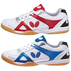 The Trynex is a Butterfly table tennis shoe with high value due to its high performance features and reasonable price. Its rubber sole provides superior grip on any surface and is scuff resistant. The Trynex is a comfortable shoe due to its a...