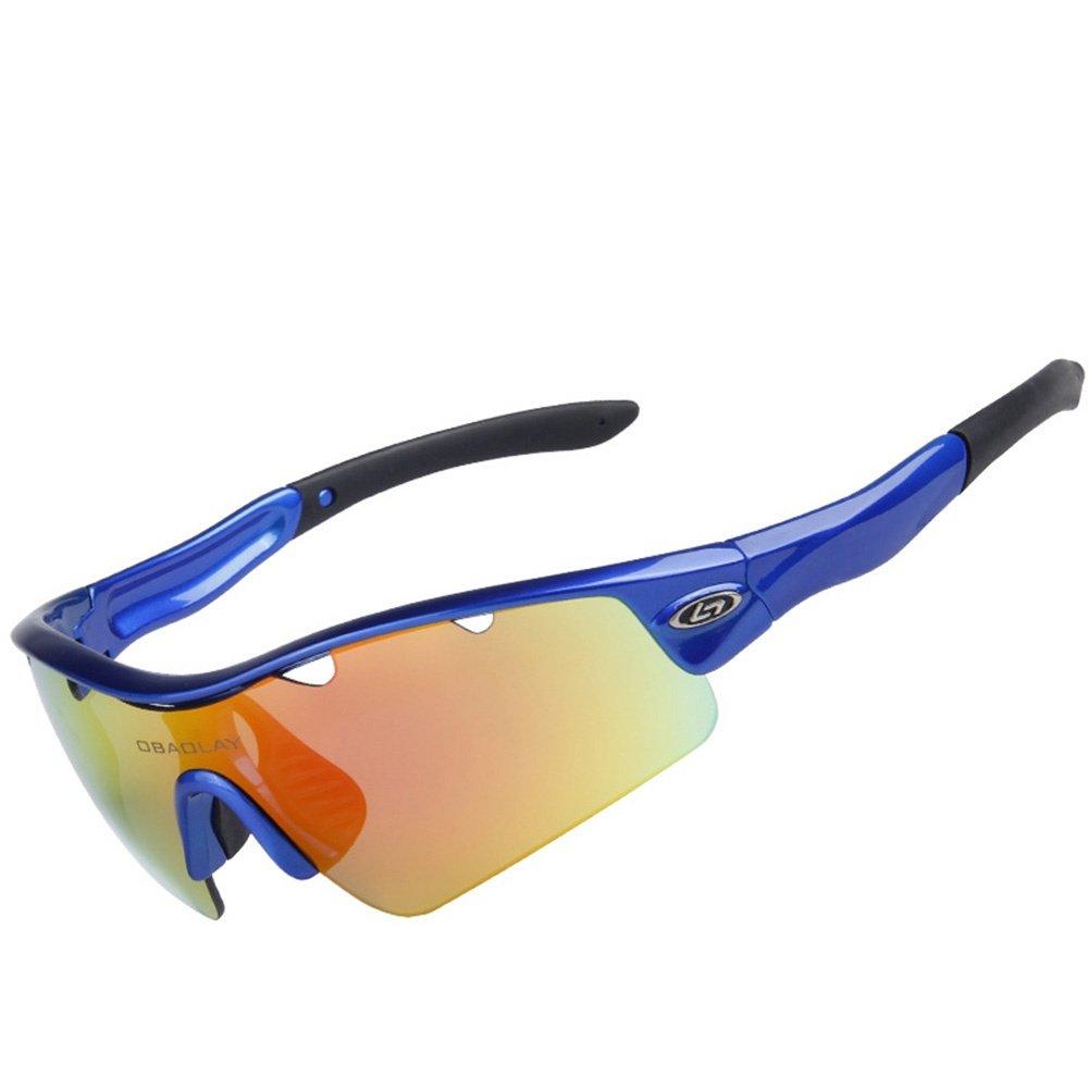 BBYY Polarisiertes Licht Radsport-Brillen Windschutz UV400 Augenschutz Sport-Sonnenbrillen Herren Damen Ultralight Rahmen HD PC Reiten Angeln Skifahren Gläser