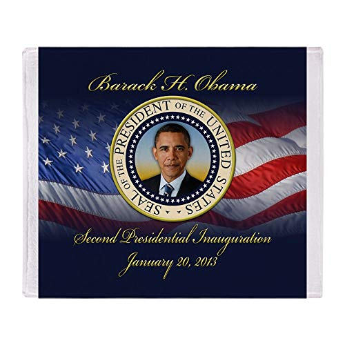 CafePress Blue/Gold Re Election Keepsake President Obama St Soft Fleece Throw Blanket, 50
