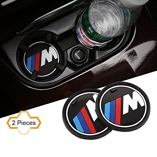 Bmw X3 Interior (S-WEKA 2PCS M Line Car Interior Accessories Anti Slip Cup Mat for BMW 1 3 5 7 Series F30 F35 320li 316i X1 X3 X4 X5 X6 (2.9