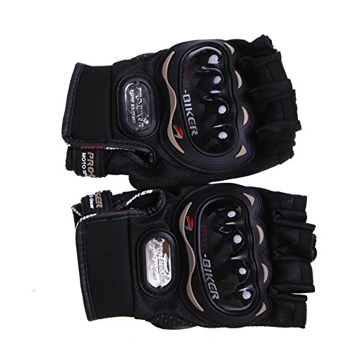 Kocome Motocross Racing Pro-Biker Cycling Motorcycle Protective Half Finger Gloves (Black, L)