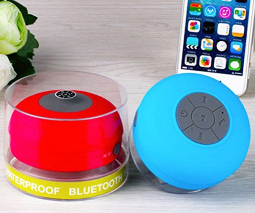 11Amber Mini Portable Subwoofer Shower Waterproof Wireless Bluetooth Speaker Car Handsfree Receive Call Music Suction Mic