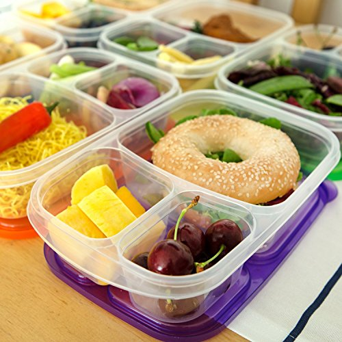 bento lunch box containers 7 pack for kids adults plastic divided box 3 compartment easy. Black Bedroom Furniture Sets. Home Design Ideas