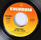 CHICAGO 45 RPM No Tell Lover / Take A Chance