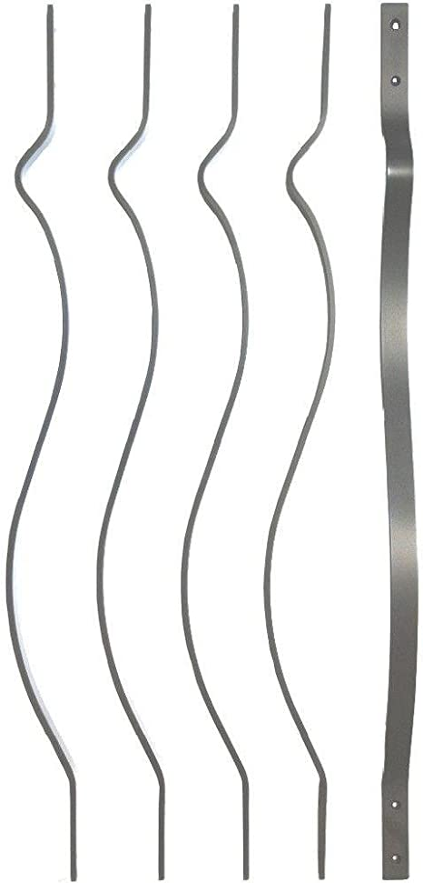 Smooth 5 Pack Grey Ultimate Bow Baluster 32-1//4 Charcoal