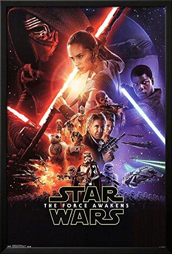 Star Wars: The Force Awakens- One Sheet Lamina Framed Poster