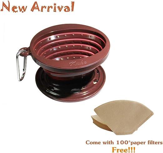 Cafetera de goteo de silicona plegable, cono de filtro para ...