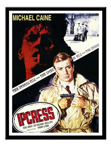 Iposters Ipcress File Michale Caine Movie Print Black Framed - 41 X 31 Cms (approx 16 X 12 Inches) ()