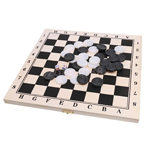 Traditional Folding Case Draughts GAME Set 64 Fields Fun Party Favor 29.5CM by uptogethertek
