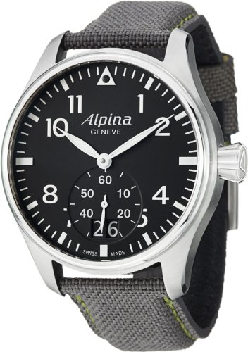 Alpina Men's AL280B4S6 SmartimePilot Analog Display Swiss Quartz Grey Watch