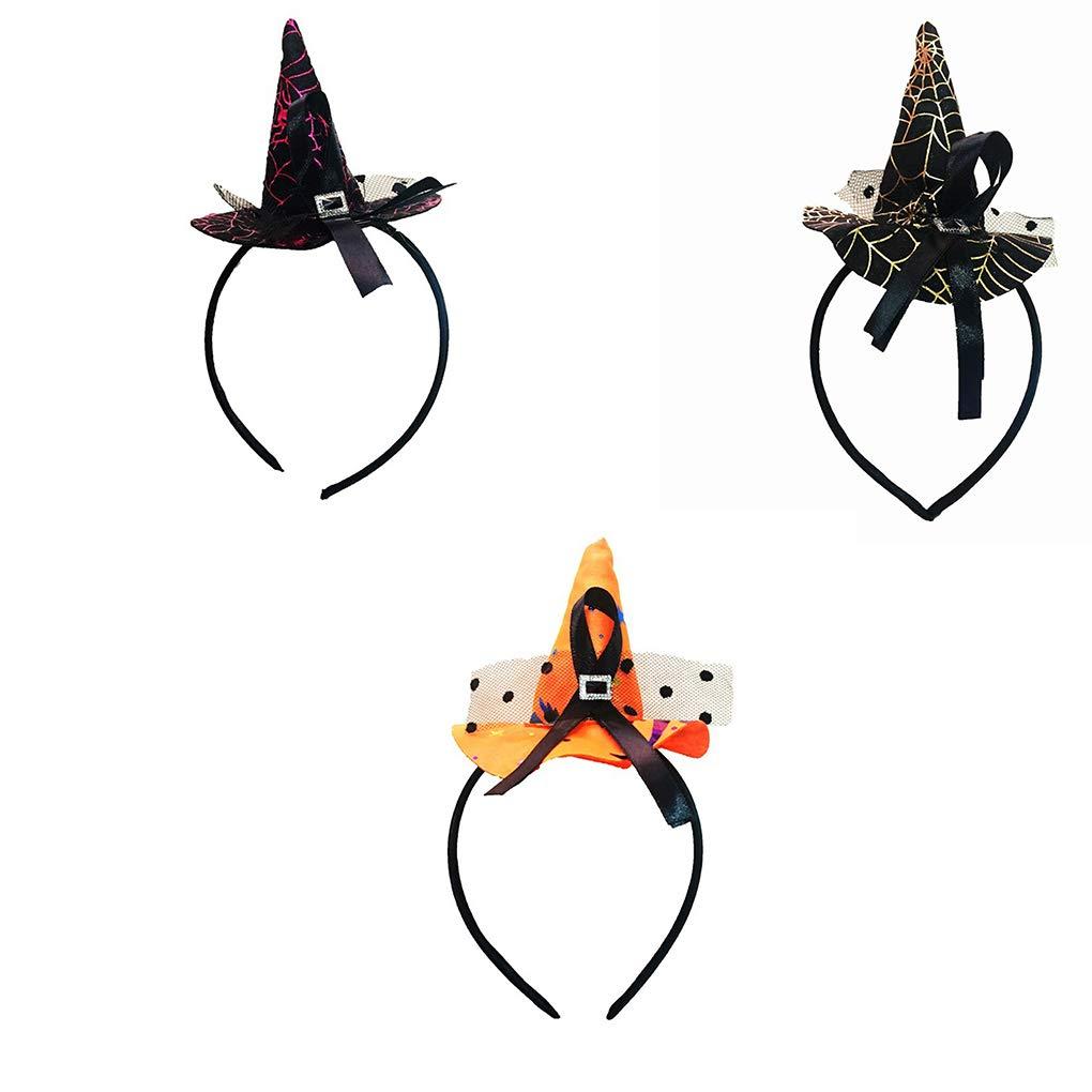 Beaums Mujeres con Estilo ni/ñas de Halloween del Sombrero de la Venda de la Cabeza Linda del aro del Pelo Fino adorna los Accesorios Headwear de la Venda del Pelo del Partido