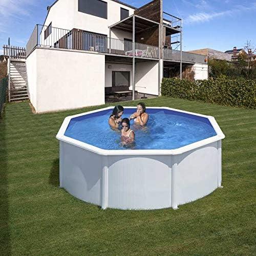 Piscina desmontable de acero blanco redonda 300 x 120 cm con ...