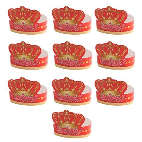 Decoraes da festa de aniversrio de papel DealMux ajustvel Pattern Crown Flower Hat 10 PCS