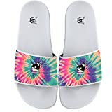 COWDIY Abstract Cat Comfy Slide Sandals Home Flats Shoes Shower Slip On Slipper Beach Slippers Waterproof Slippers