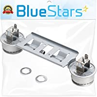 Ultra Durable WB16K10026 Double Burner Assembly Replacement Part by Blue Stars- Exact Fit for GE Kenmore Range- Replaces 868697 AP2633210 WB16K10003