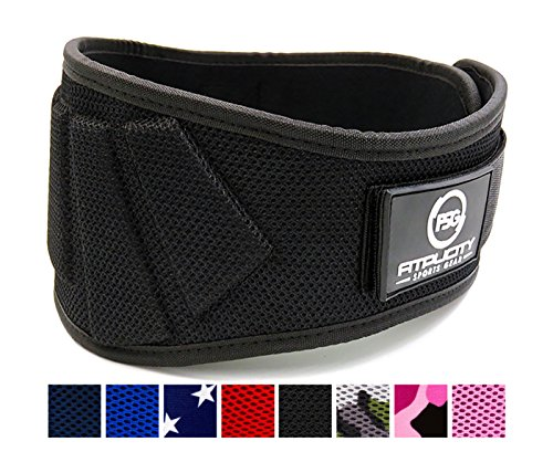 Weight Lifting Belt by Fitplicity (Black, Small)