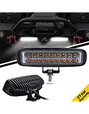 Jiuguang 6 inch LED Work Light Off Road lights LED Light Bar Single Row for SUV, ATV, Jeep, 4x4, Pickup Truck, Boat