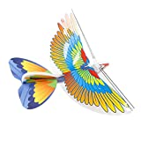 Techinal Parrot Electric Motor Paper Airplane Model DIY Power Up Flying Plane for Kids Children Outdoor Play