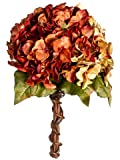 "10"" Hydrangea Bouquet Rust Mixed (Pack of 6)"