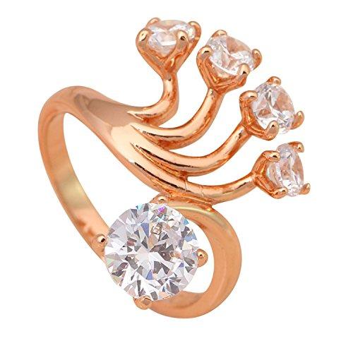 Blues Brothers Costume Australia (Cherryn Jewelry Big Ring Rose Gold Plated Jewelry Nickel Lead Australia Zircon Ring Sz 8.75 6 8.5 9 5.75 7 JR1856A)