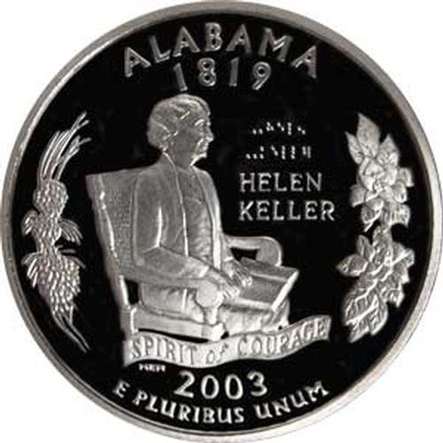 2003 Alabama S Gem Proof State Quarter US Coin (Alabama State Quarter)