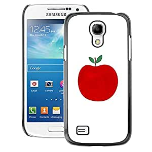 A-type Arte & diseño plástico duro Fundas Cover Cubre Hard Case Cover para Samsung Galaxy S4 Mini i9190 (NOT S4) (Autumn Fall Apple Minimalist White Fruit)