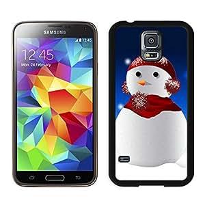 Popular Design Christmas Snowman Black Samsung Galaxy S5 Case 8