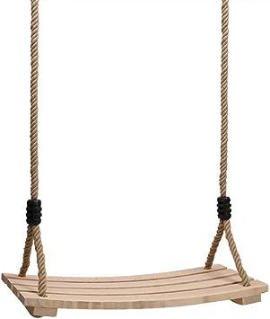 PELLOR Columpios Infantiles, Columpio de Madera Asiento de jardín al Aire Libre con Cuerda Ajustable para niños y Adultos: Amazon.es: Juguetes y juegos