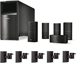 Bose Acoustimass 10 Series V Home Theater Speaker System (Black) with UB-20 Wall Brackets (5 ct.)