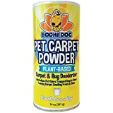 Natural Dog Odor Carpet Powder | Dry Pet Smell Neutralizer and Eliminator | Remove Urine Smells | Plant Based Biodegradable Room Deodorizer Loosens Fur and Dirt