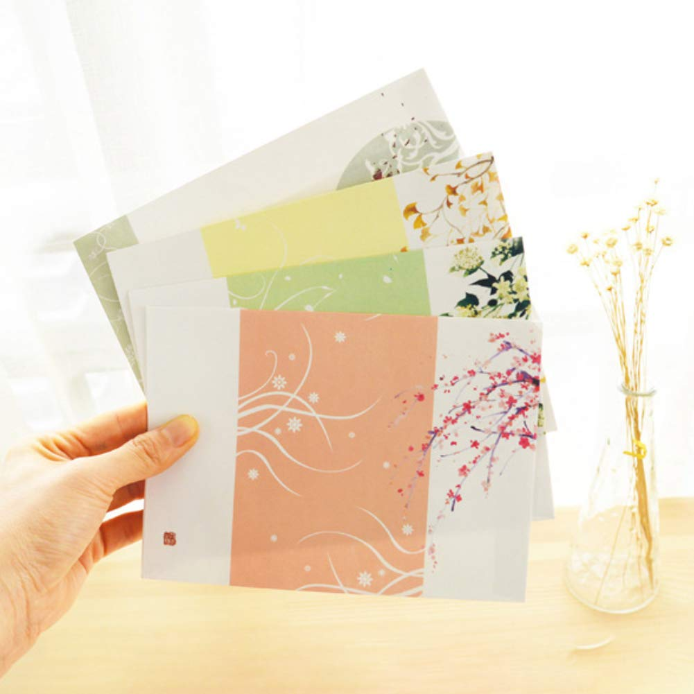 32 Cute Letter Writing Paper Letter Sets with 8 Envelope,Writing Stationery Paper,Assorted Color