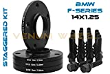 Complete Set Of 10mm & 15mm Staggered Bmw Black Hub Centric Wheel Spacers 5x120 - 72.56 H.B - F30 F31 320 328 335 F80 M3 F32 F82 M4 435 F22 F23 228 235 F10 528 535 M5 F11