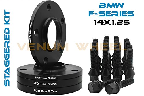 10 Mm Hub (Complete Set Of 10mm & 15mm Staggered Bmw Black Hub Centric Wheel Spacers 5x120 - 72.56 H.B - F30 F31 320 328 335 F80 M3 F32 F82 M4 435 F22 F23 228 235 F10 528 535 M5 F11)
