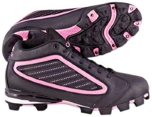 Acaciaピンクdiamond-mid野球/ソフトボール靴 B00GYT4L9W 8|ブラック/ピンク ブラック/ピンク 8