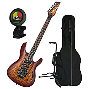 ibanez s series s670qm dragon eye burst electric guitar w gig bag tuner and stand. Black Bedroom Furniture Sets. Home Design Ideas