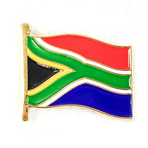 South Africa Waving Flag Lapel Pin Country Made of Metal Souvenir