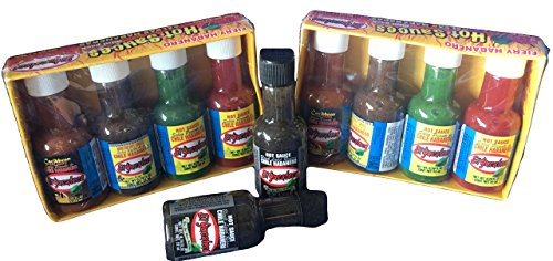 Hot Sauce Miniature Stocking Stuffers 5 flavors El Yucateco (pack of 2) (Gift Baskers)