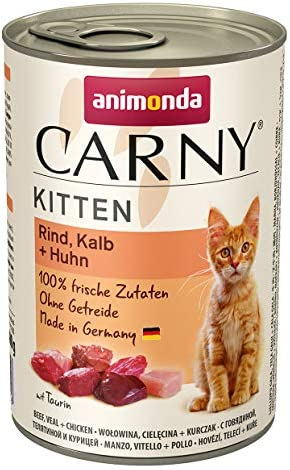 animonda Carny Kitten Katzenfutter, Nassfutter Katzen bis 1 Jahr
