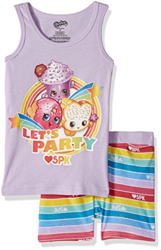 Intimo Big Girls' Shopkins Welcome to the Party Pajama Sh...