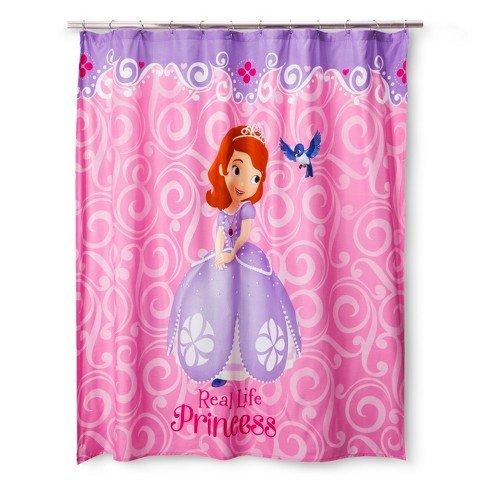 Sofia the First Disney Sofia Scrolls Shower Curtain