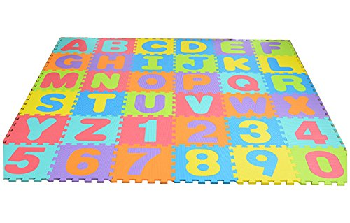 Solid Color Eva Foam Puzzle Splice Floor Mat - 2