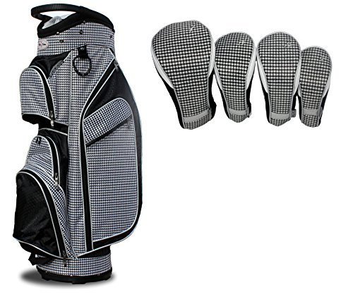 Taboo Fashions Monaco Lightweight Cart Bag Bundle with Club Covers (Timeless Noir)