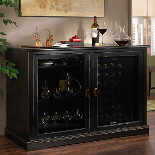 Siena Mezzo Wine Credenza - Nero - Wine Refrigerator Credenza