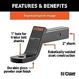 CURT 45060 Class 3 Trailer Hitch Ball Mount, Fits